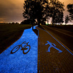Glow-In-The-Dark Bicycle Path In Poland That Is Charged By The Sun